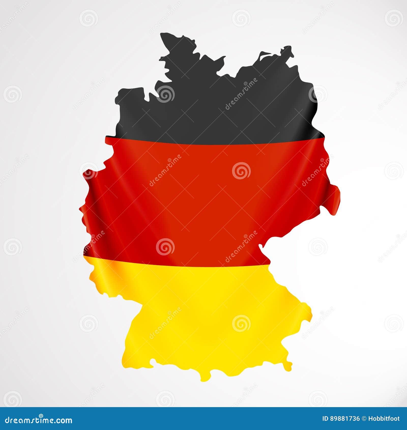 Deutschland Flagge In Der Form Der Karte Die Bundesrepublik