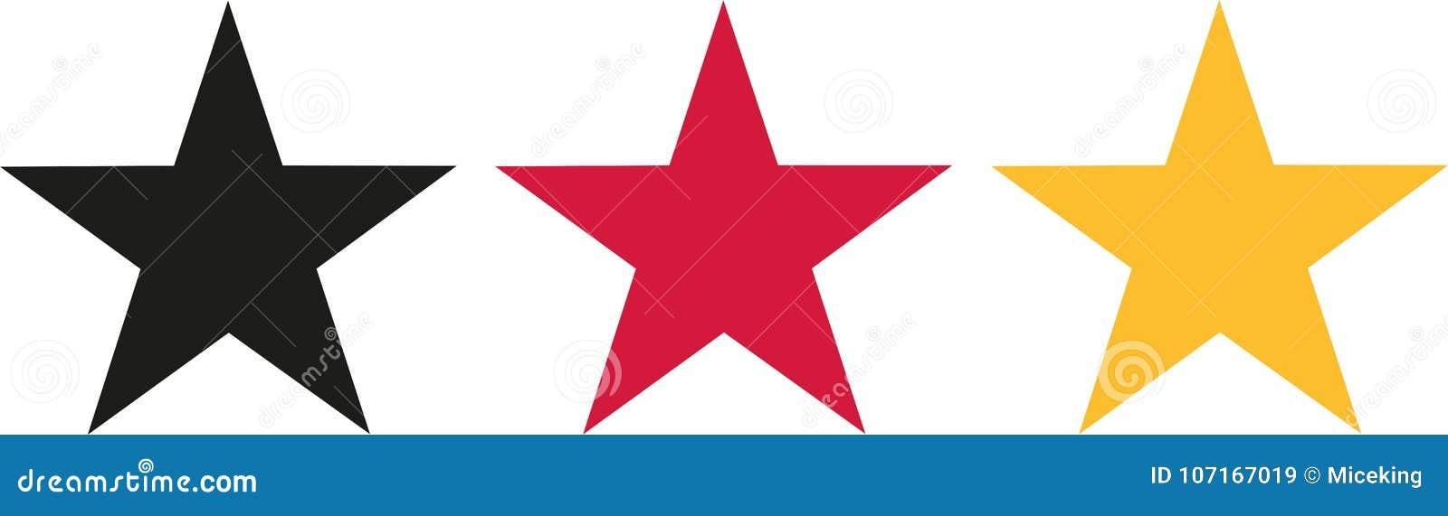 Deutschland-Flagge Färbt Sterne Vektor Abbildung - Illustration von ...