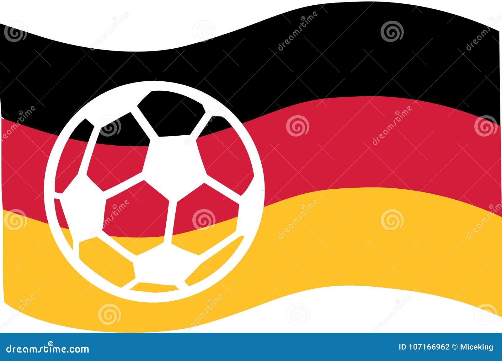 Deutschland Flagge Mit Fussball Vektor Abbildung