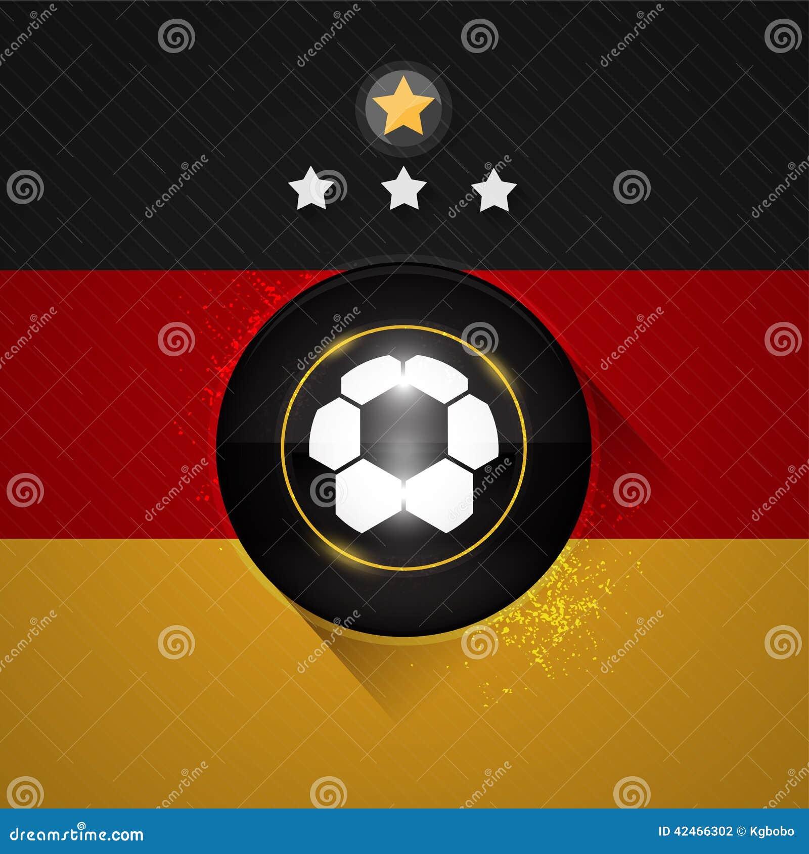 Deutschland-Fußballflagge