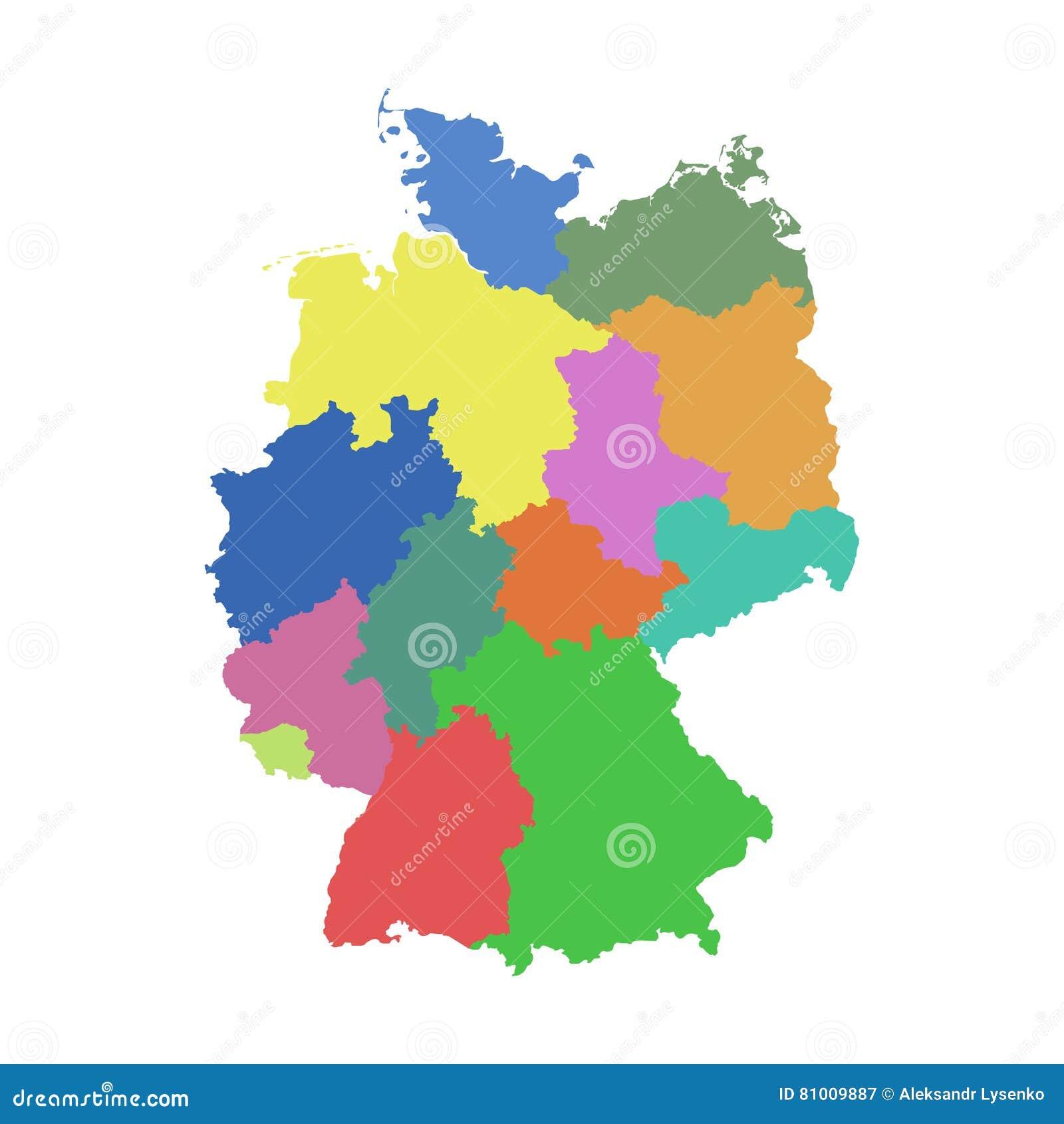 Deutschland Karte Mit Bundesländern Vektor Abbildung Illustration