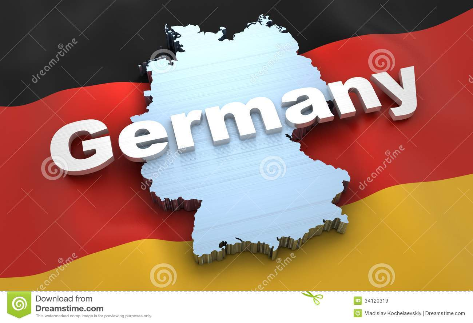 Deutschland-Karte und -flagge