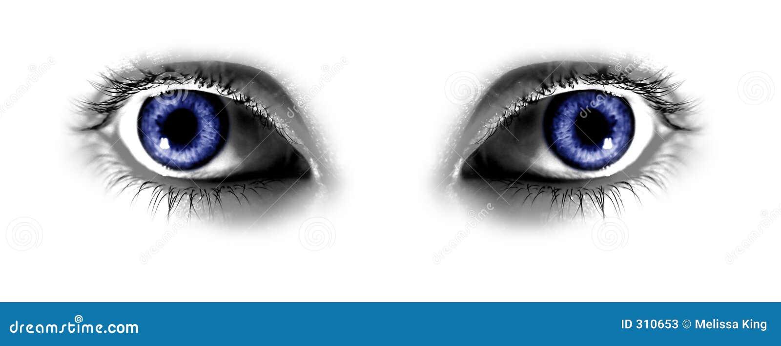Deux œil bleu abstraits