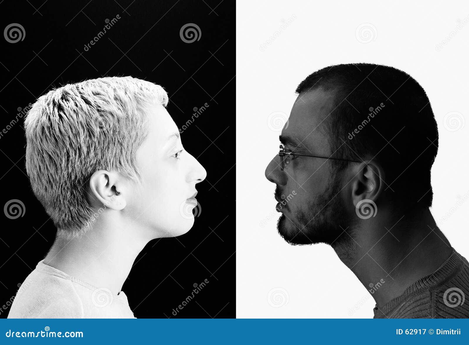 Download Deux image stock. Image du yang, opposé, hommes, femme, fille - 62917