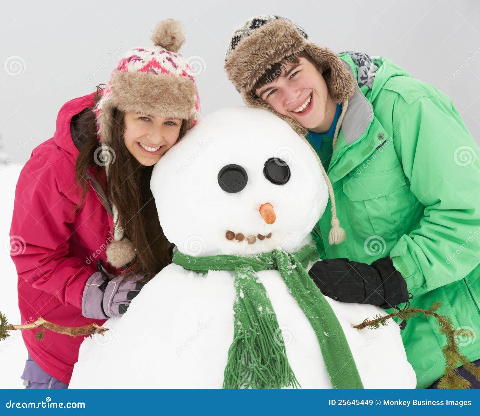 Adolescents adolescents tube neige plus