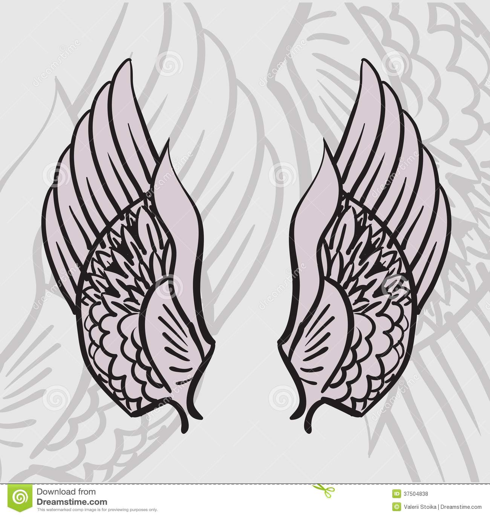 deux ailes photos libres de droits image 37504838. Black Bedroom Furniture Sets. Home Design Ideas