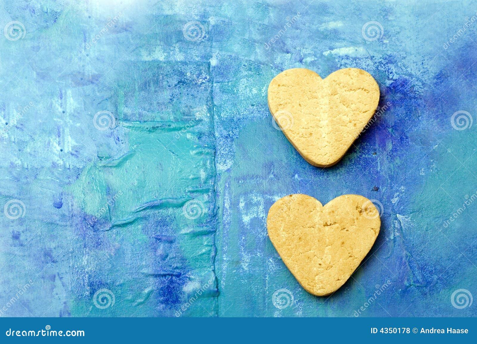 Deux biscuits en forme de coeur