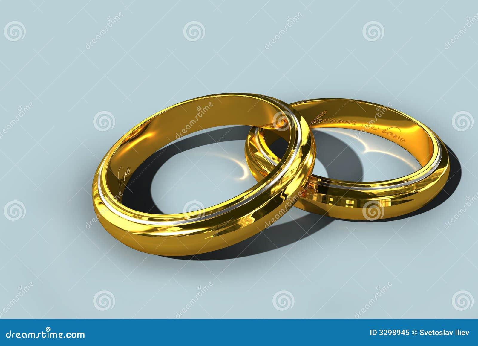 Deux boucles de mariage d or