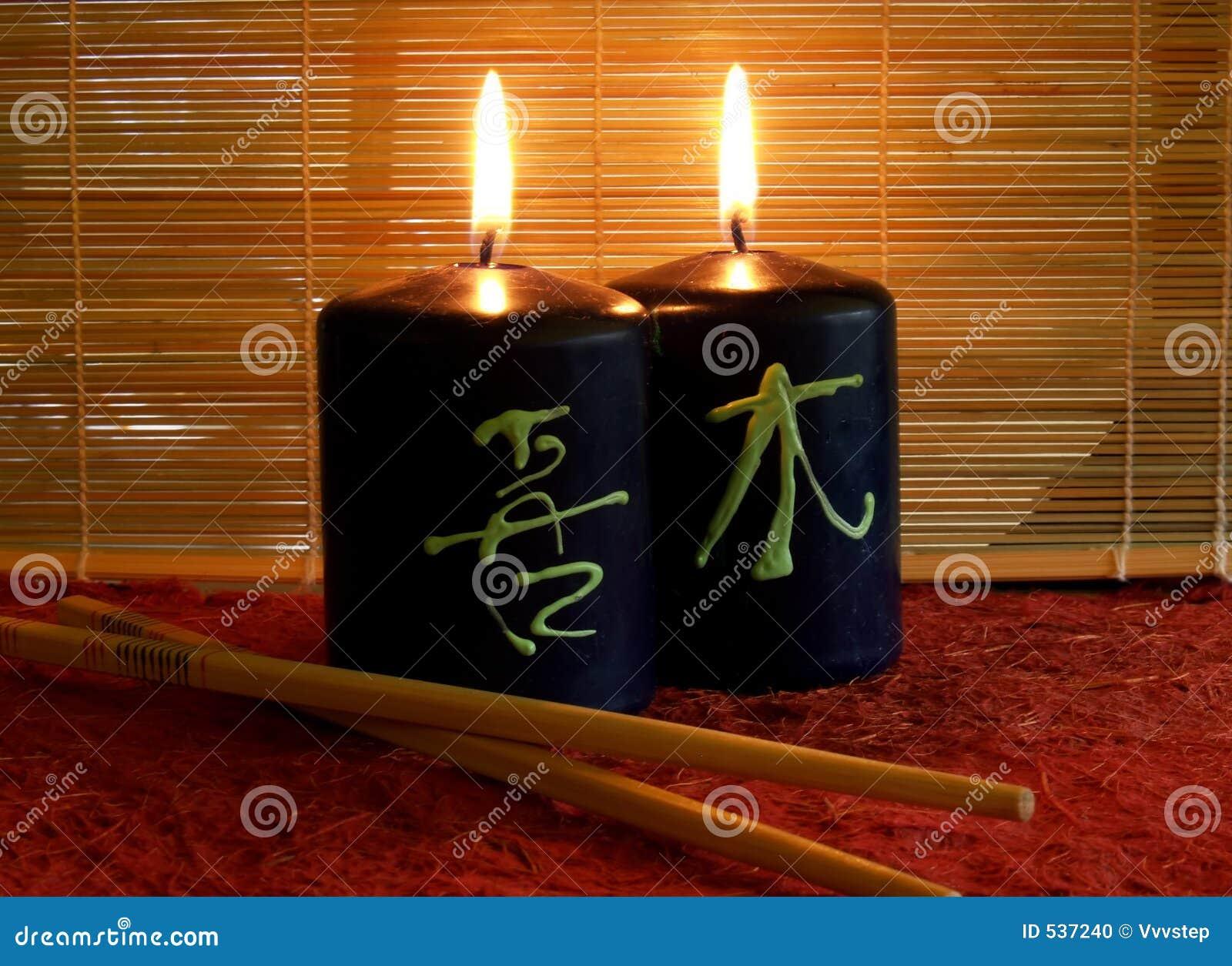 Deux bougies allumées