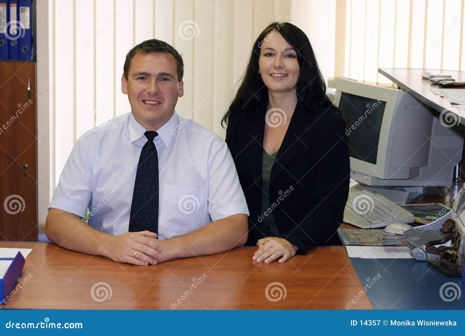 Deux cadres d affaires