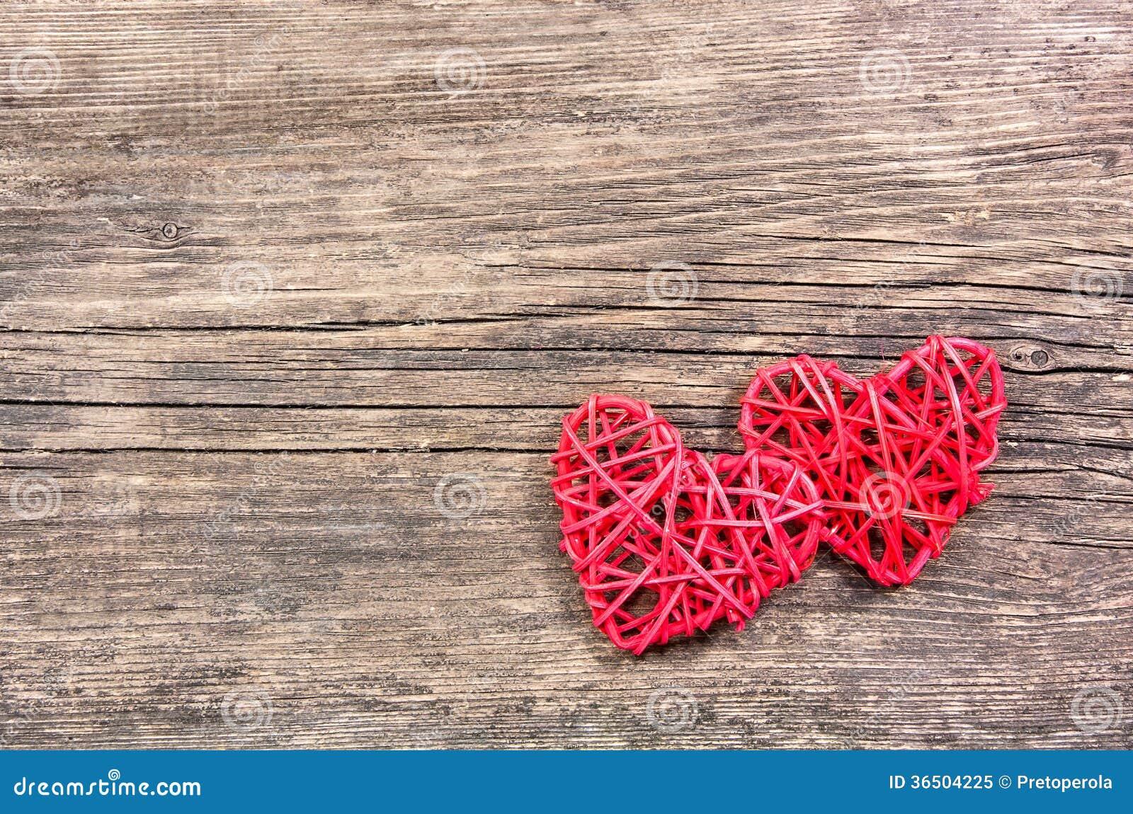 Deux coeurs rouges