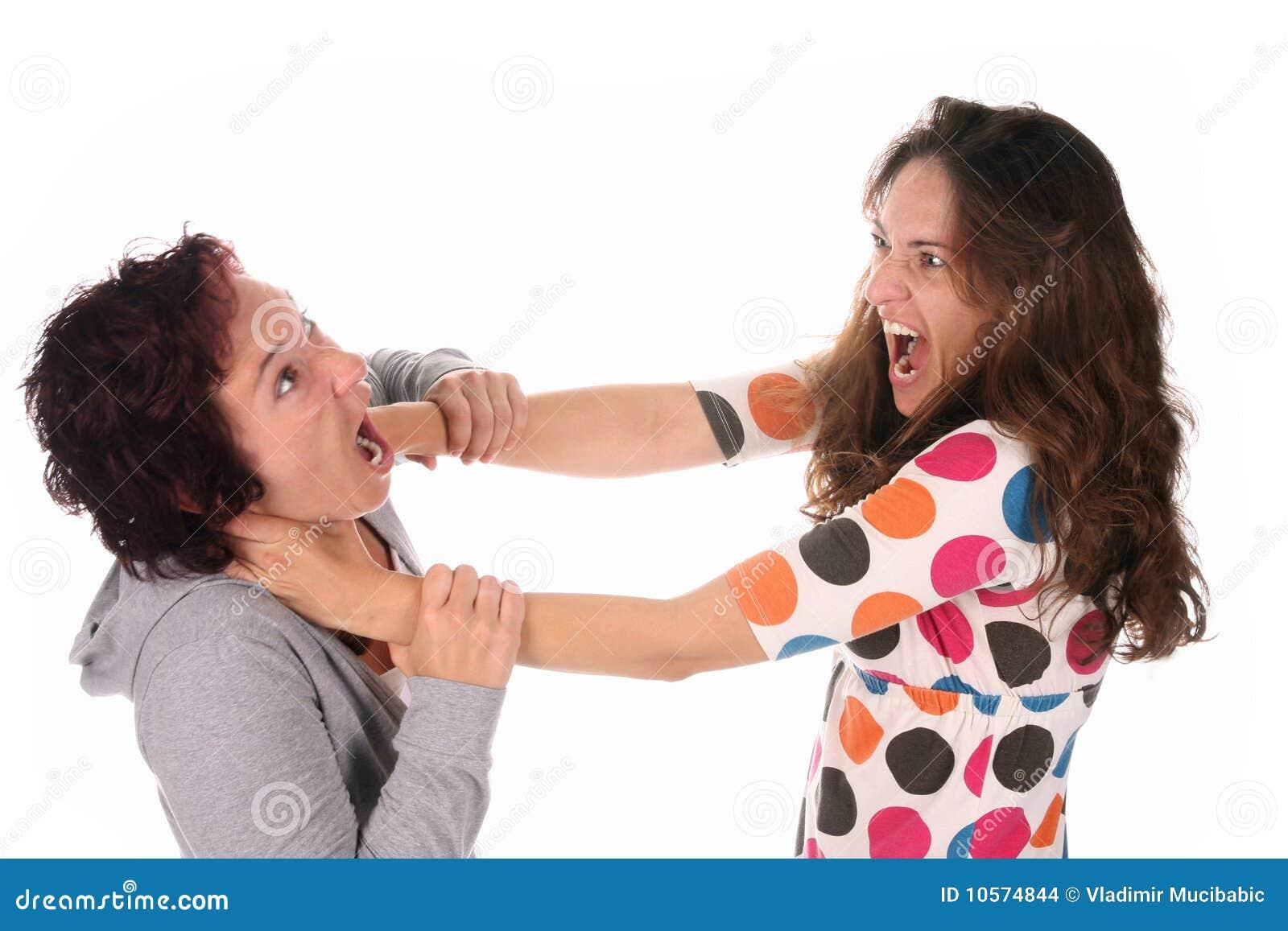 Deux combats de jeune femme