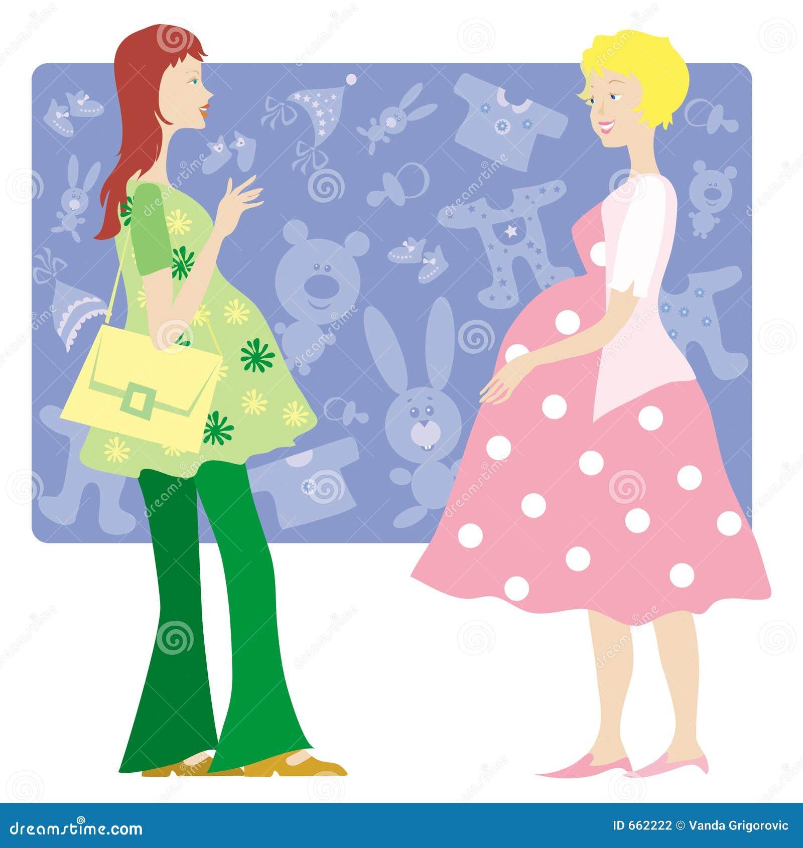 Deux dames enceintes