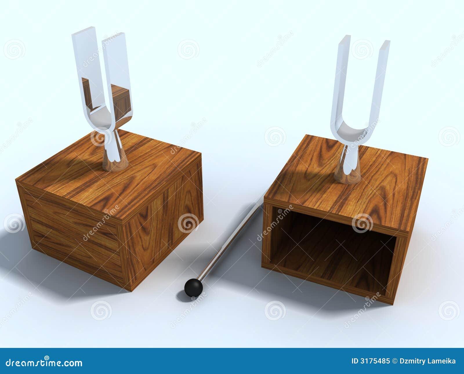 Deux diapasons de laboratoire