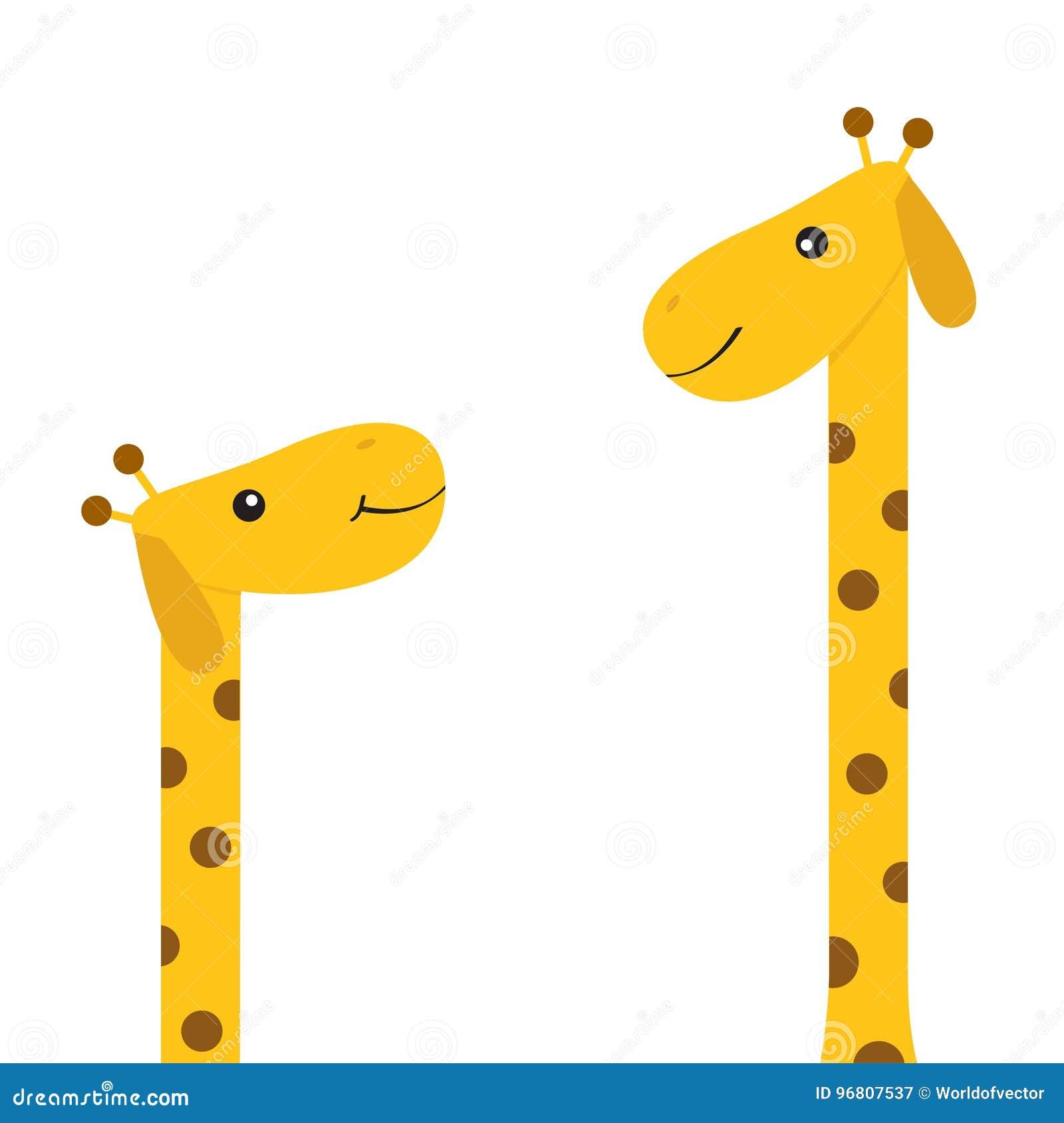 Deux Girafes Avec La Tache Mere Et Cheri Animal De Zoo Personnage De