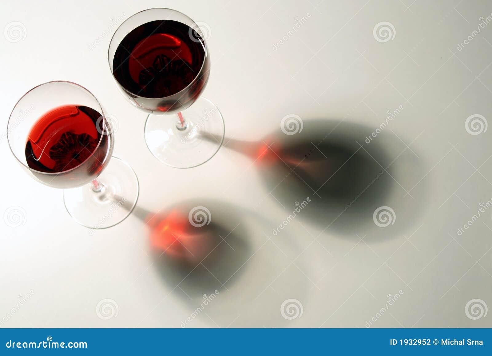Deux glaces de Wein rouge