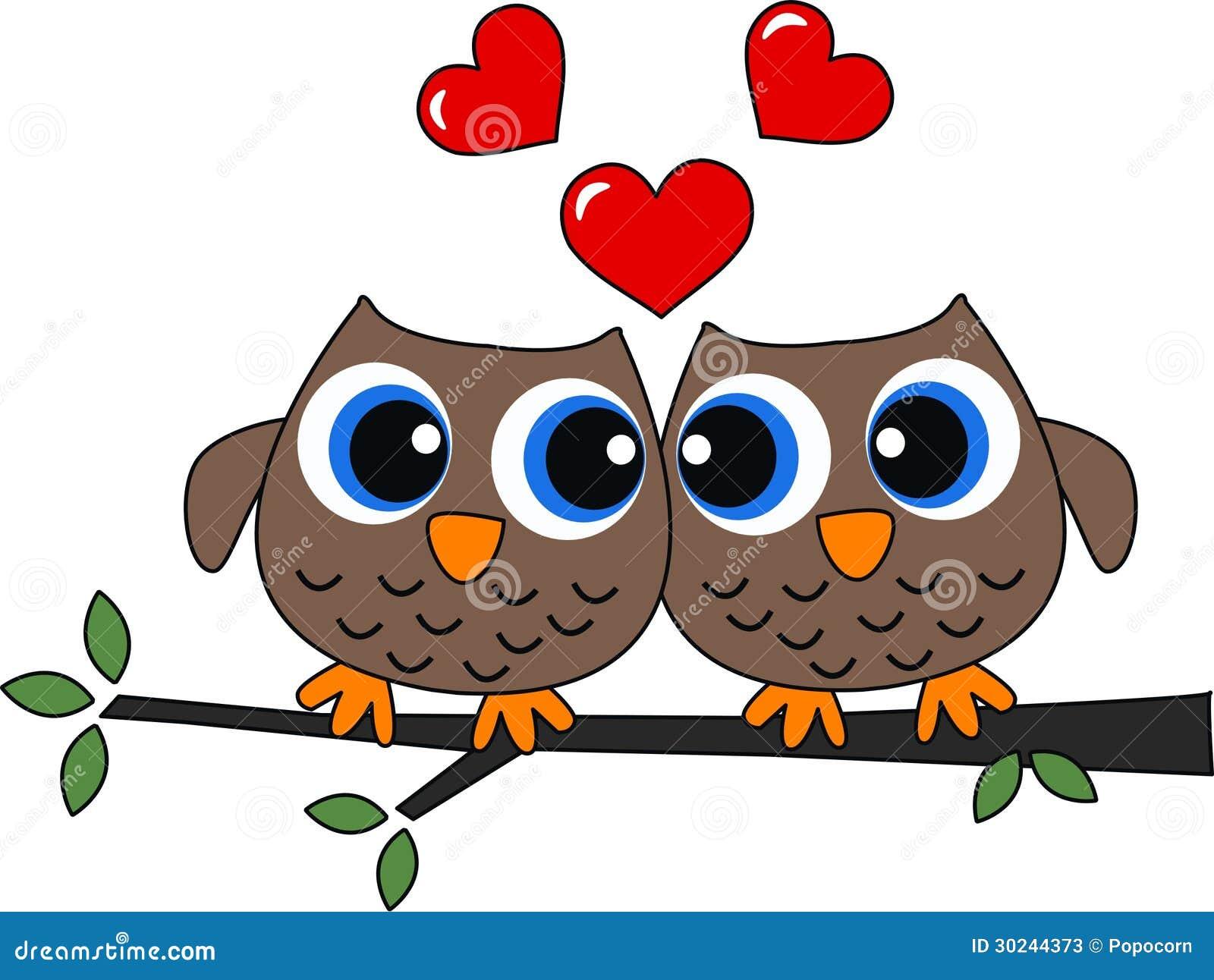 Deux hiboux dans l amour
