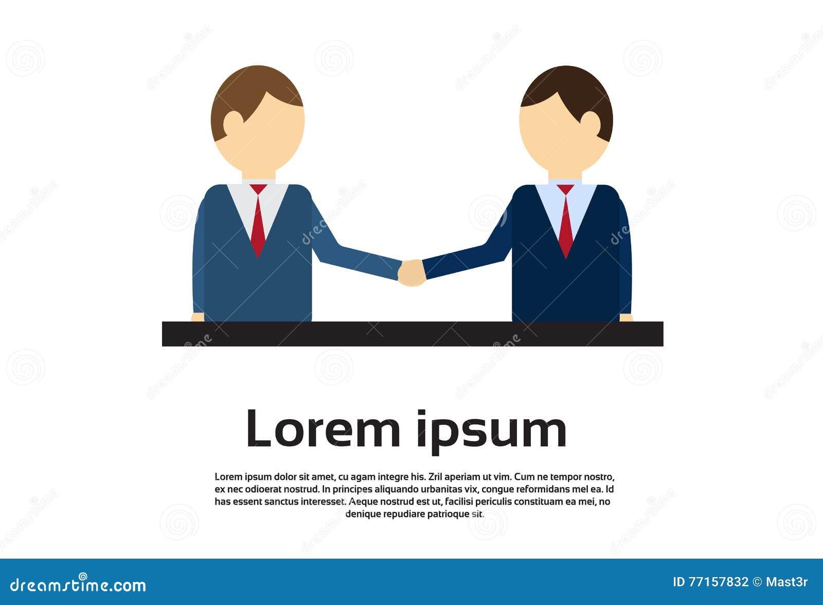 Deux homme d affaires Hand Shake, concept d accord de poignée de main d homme d affaires