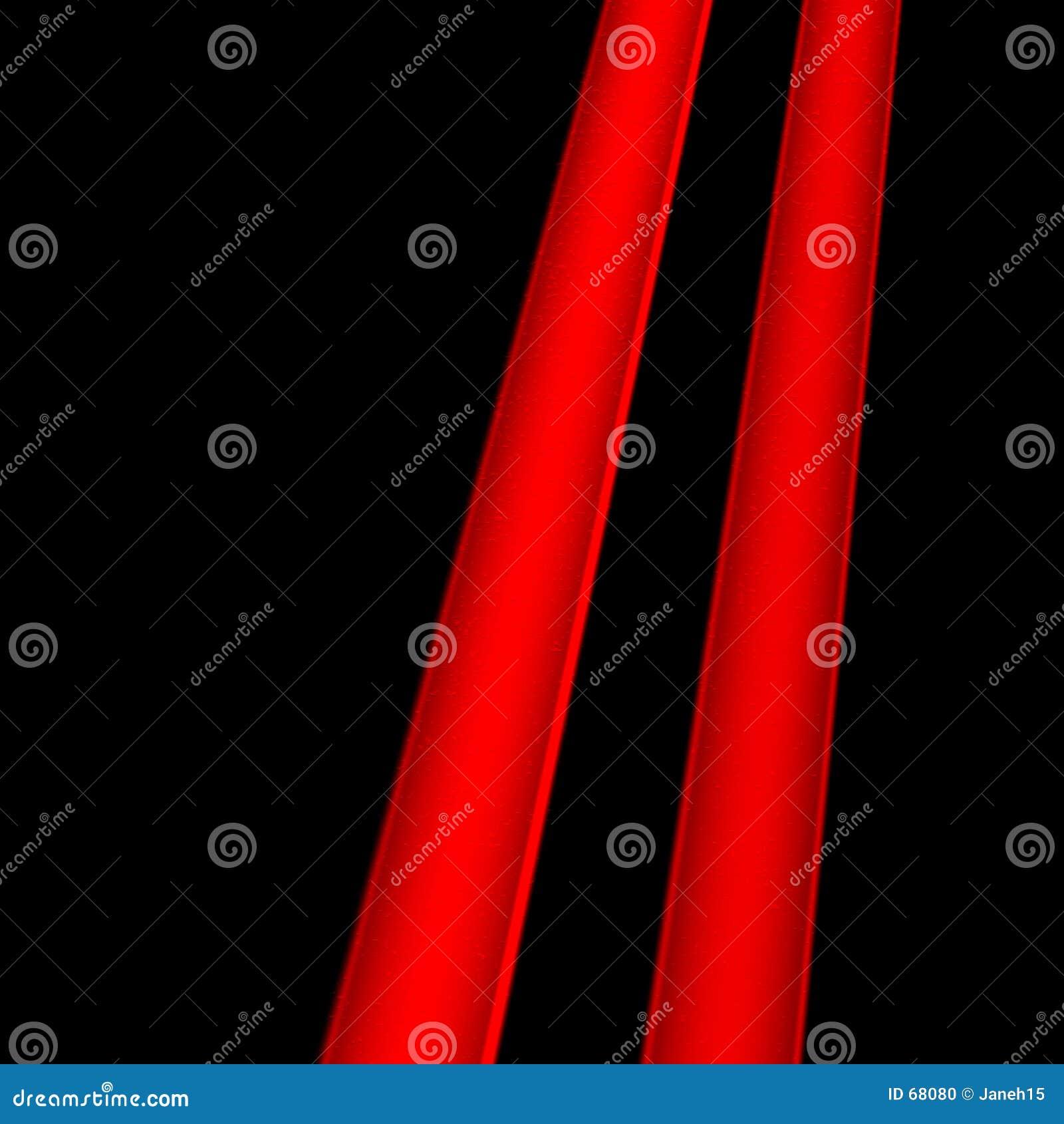 Deux lignes rouges