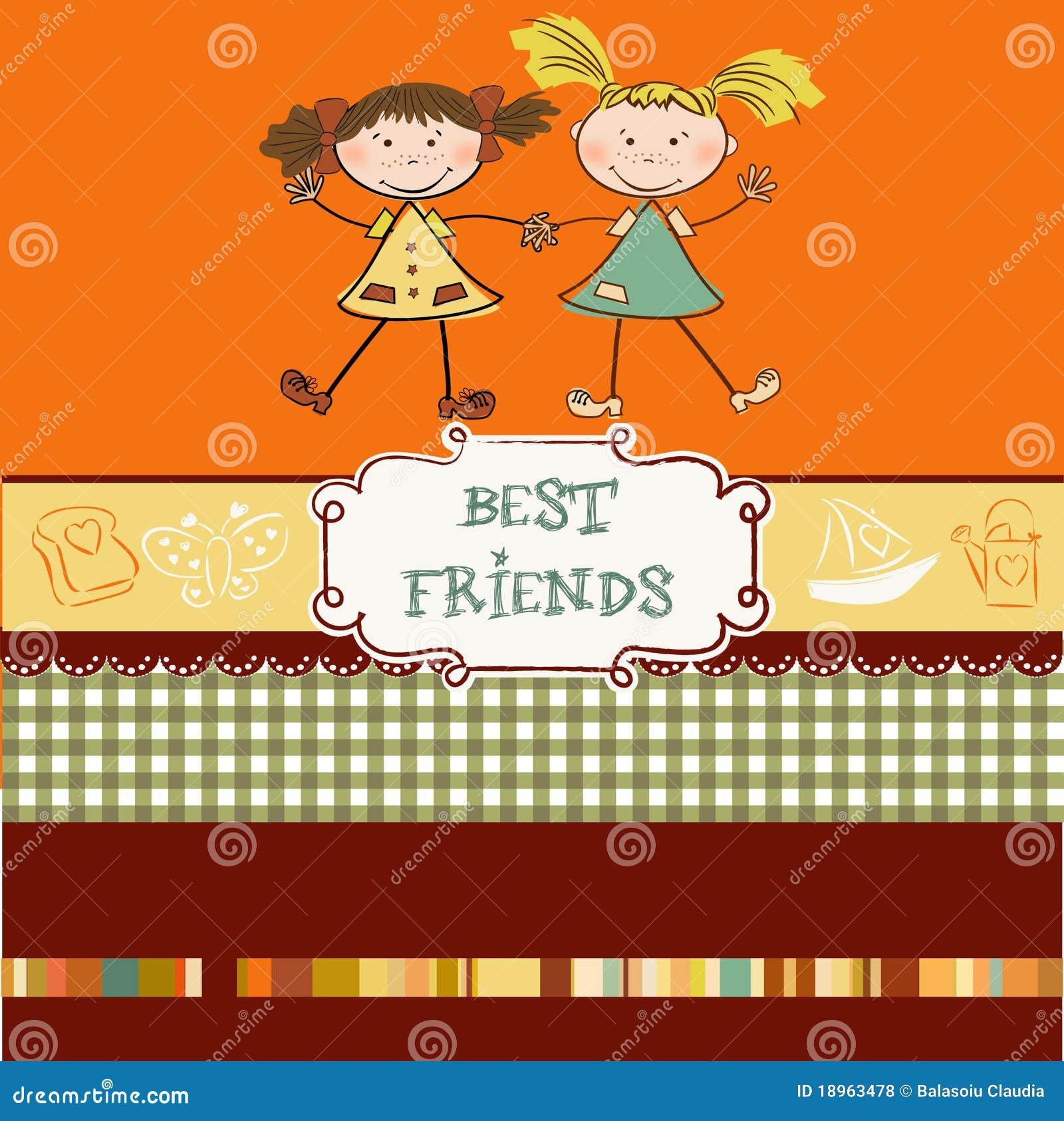 Deux meilleurs amis de petites filles