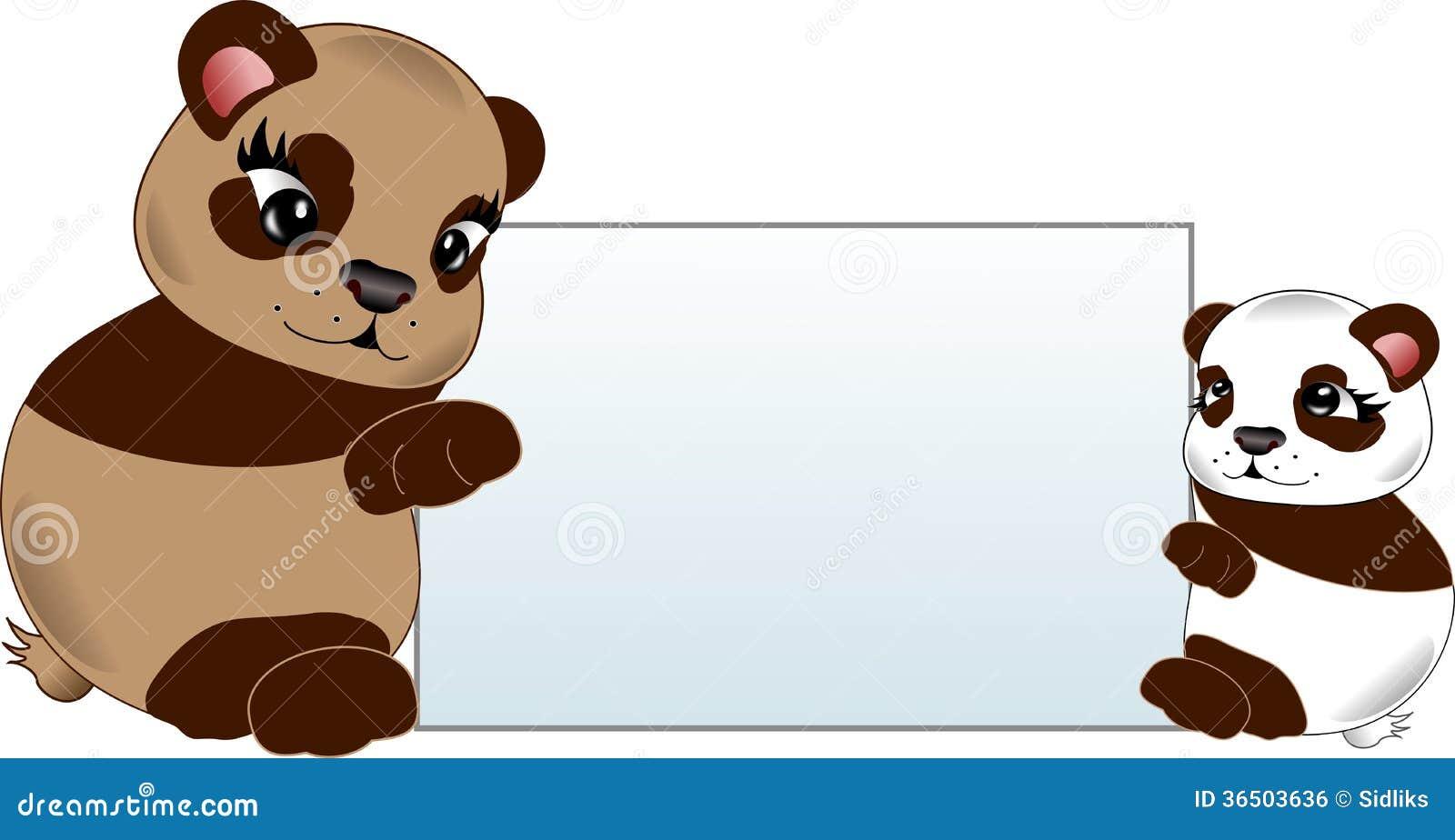 Deux ours avec le label