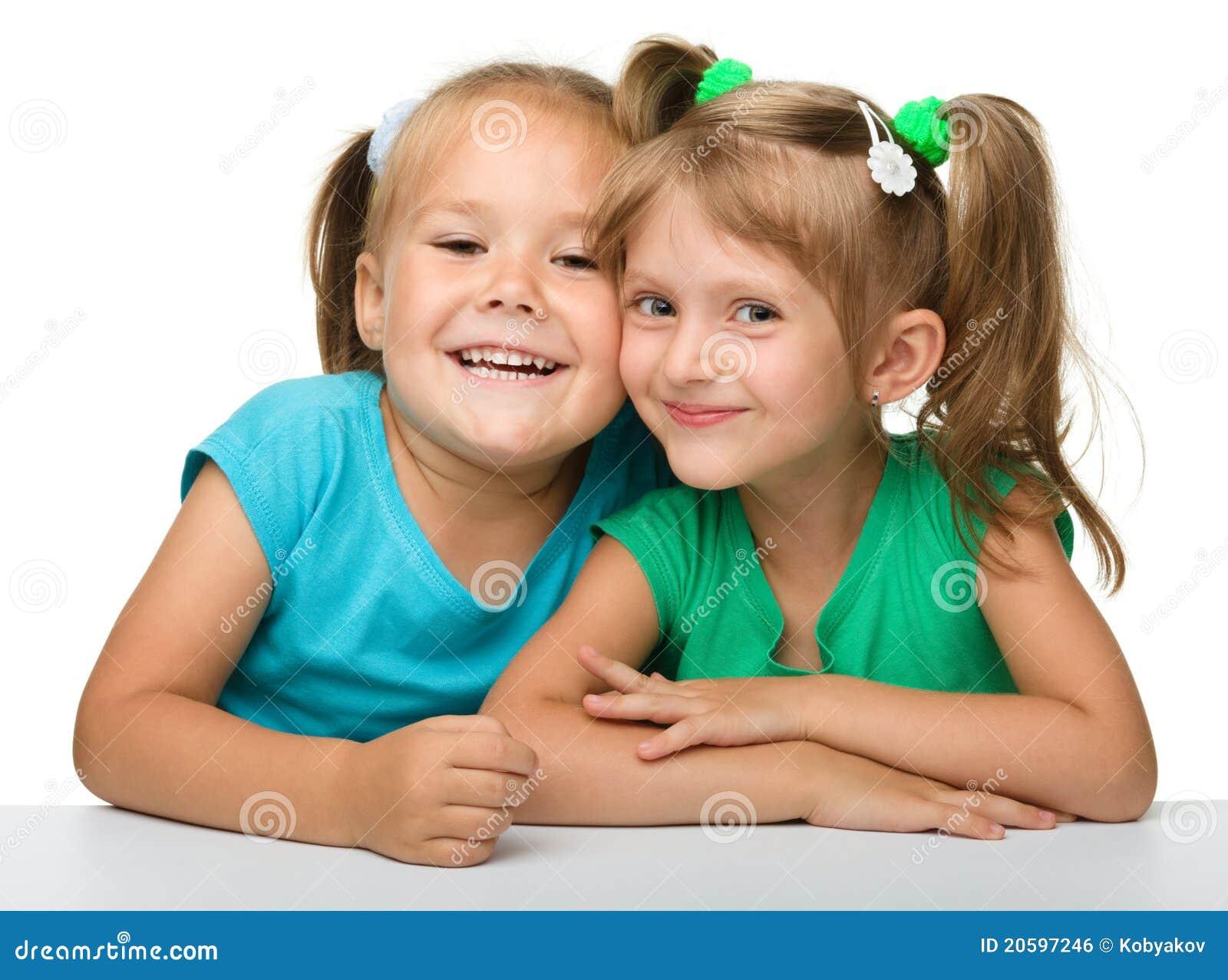Deux petites filles - meilleurs amis