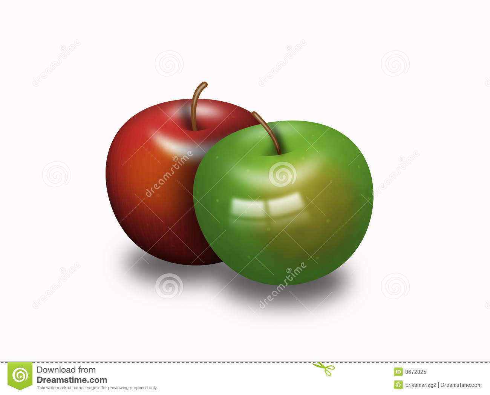 Deux pommes Delicious
