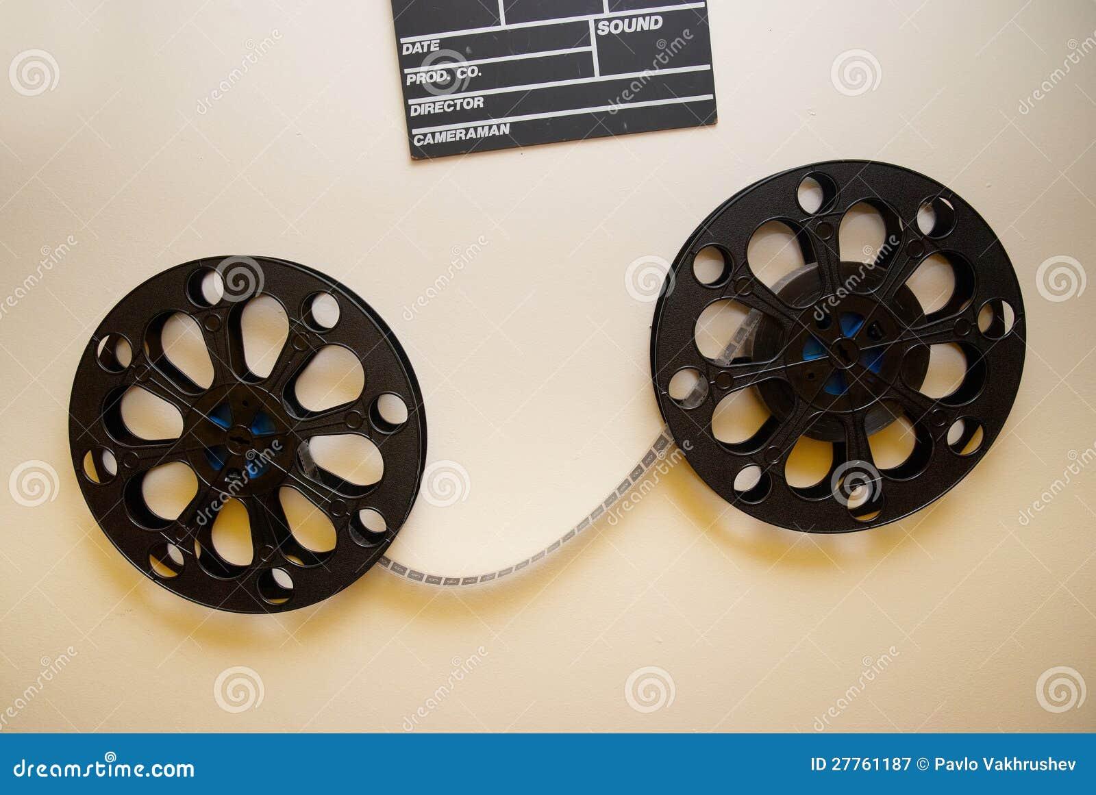 Deux rétro bobines de film de cinéma