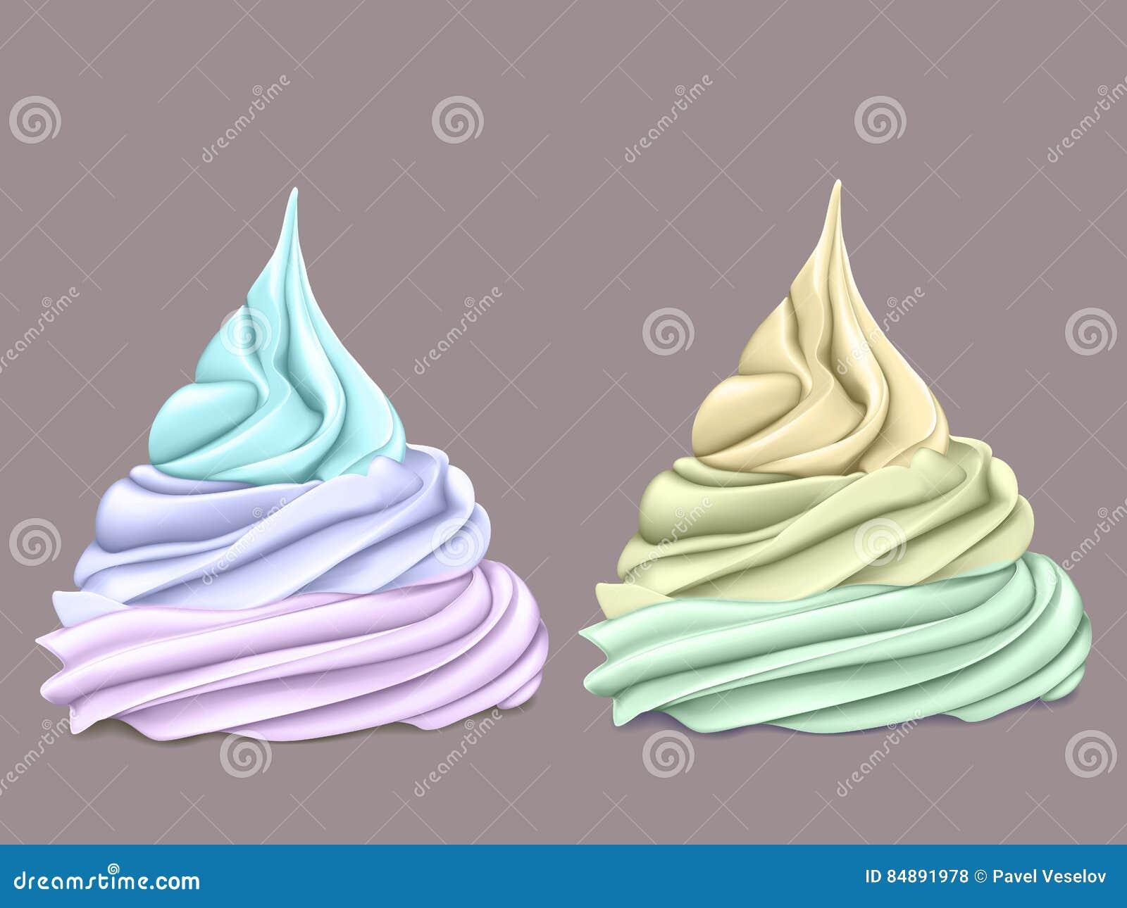 Deux rangées crème