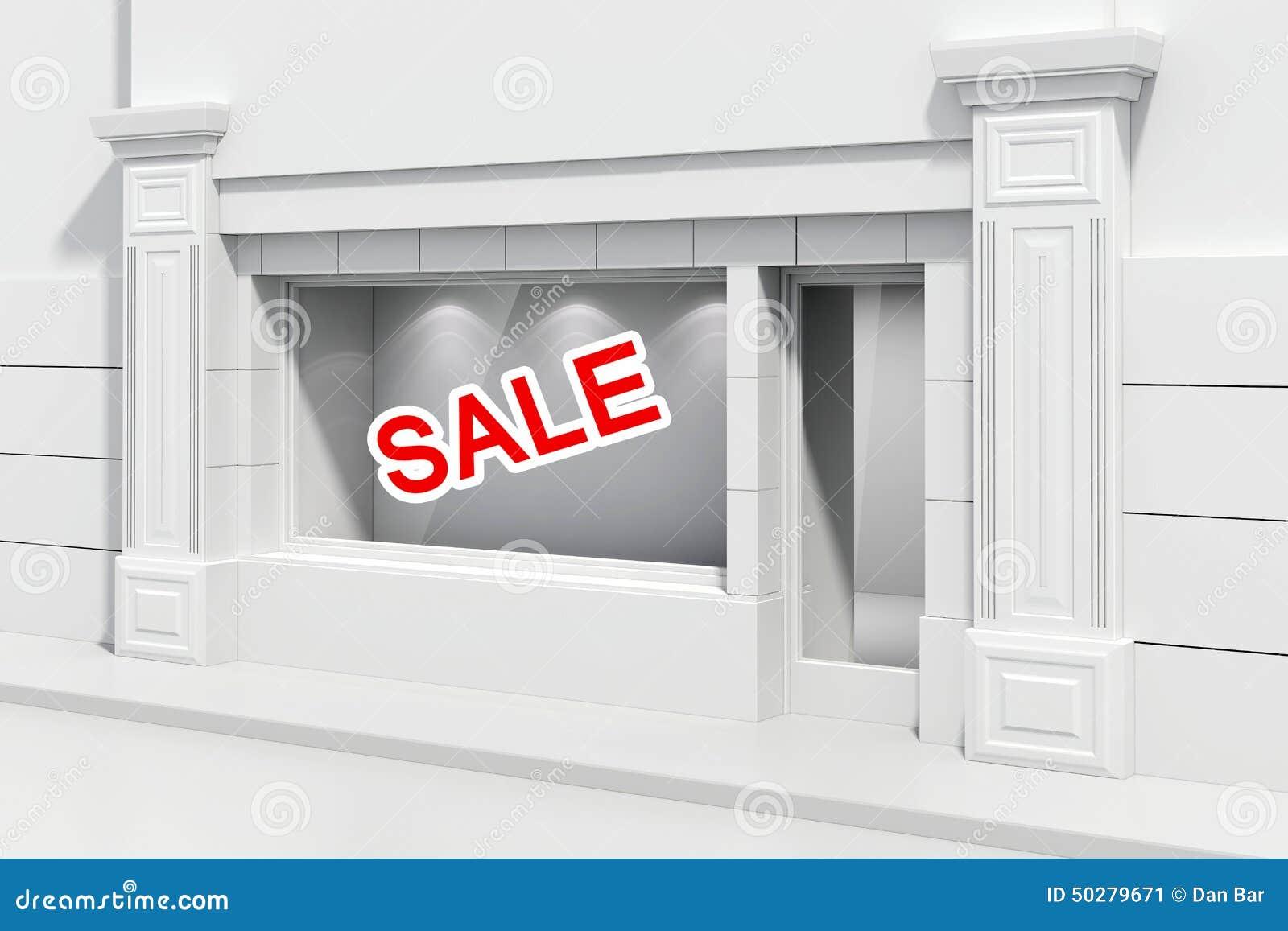 devanture du magasin 3d illustration stock image 50279671. Black Bedroom Furniture Sets. Home Design Ideas