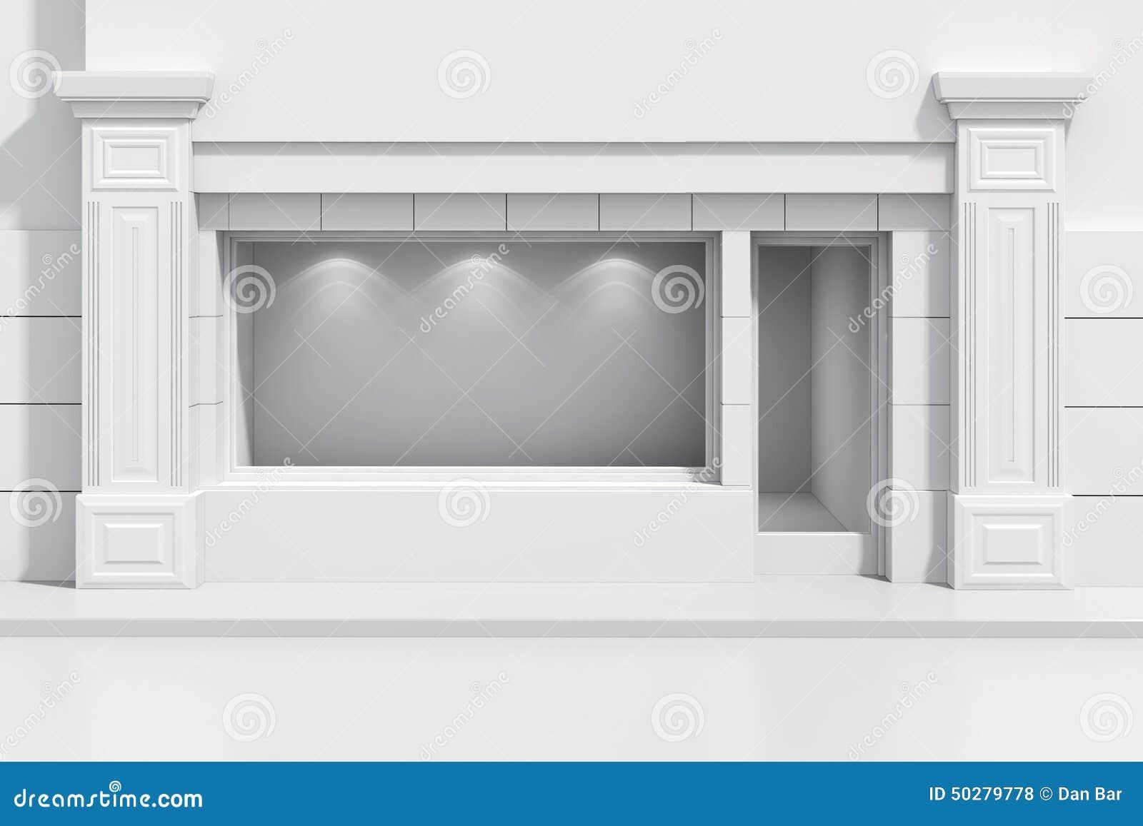 Devanture du magasin 3d illustration stock. Illustration du blanc ... 0b0f434f5505