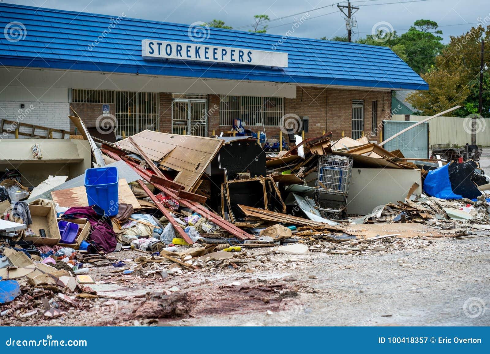 A devastação do furacão Harvey