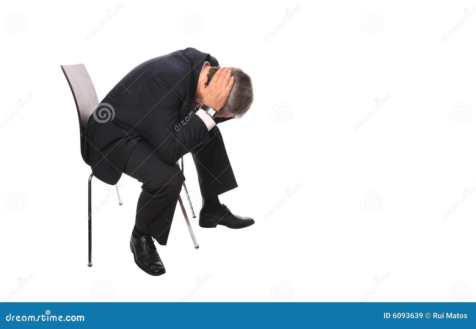 Devastated businessman