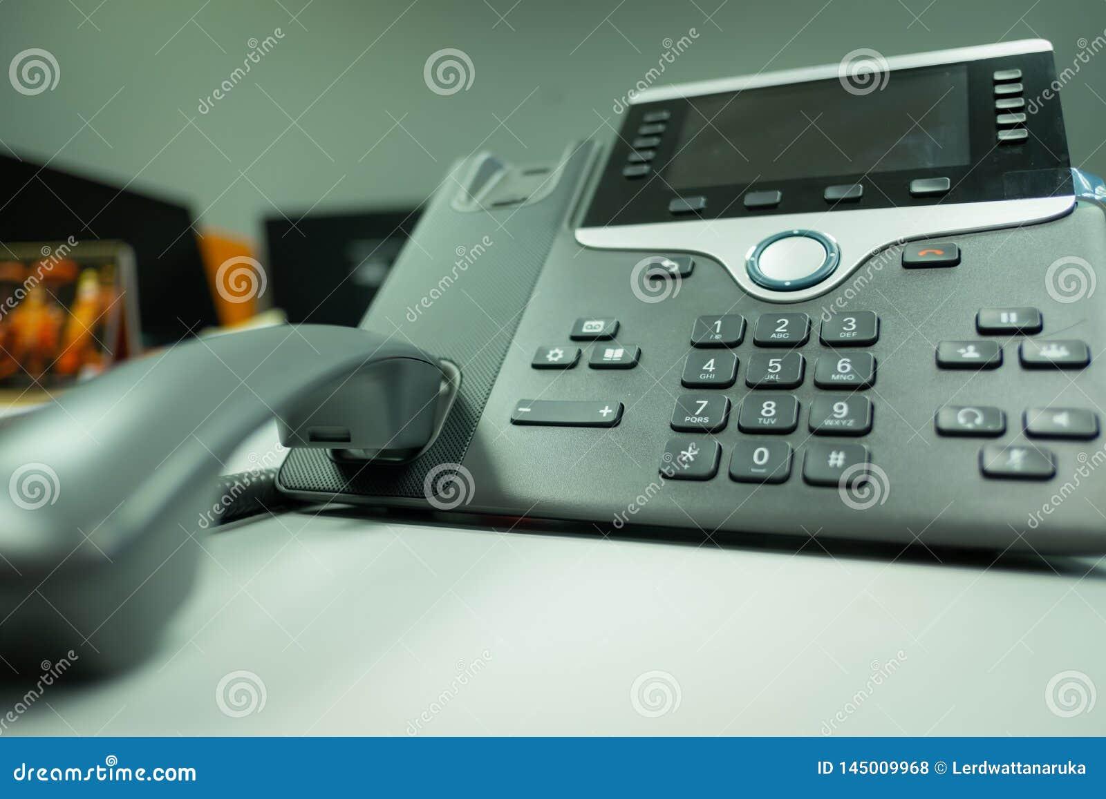 Deveice del teléfono del IP del telclado numérico del primer en el escritorio de oficina