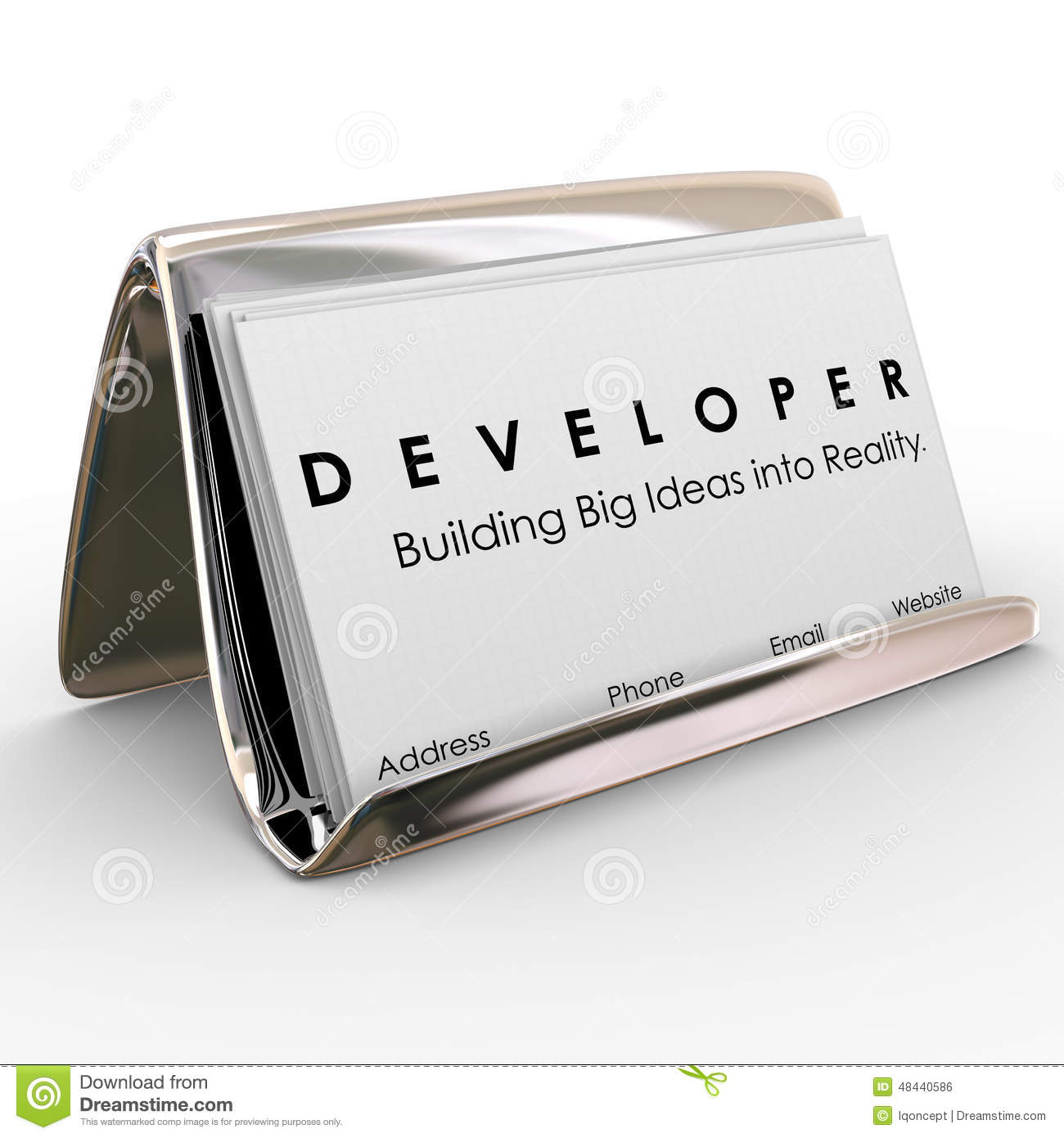 Developer Business Cards Builder Software Application Programmer ...