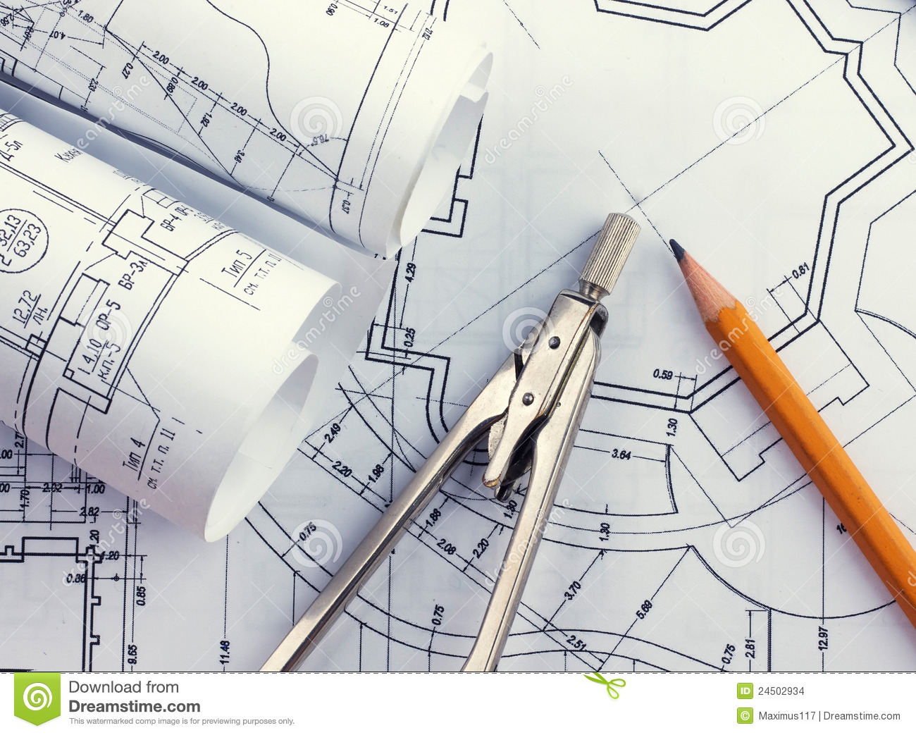 Development of architectural blueprints stock images for Architecture blueprint