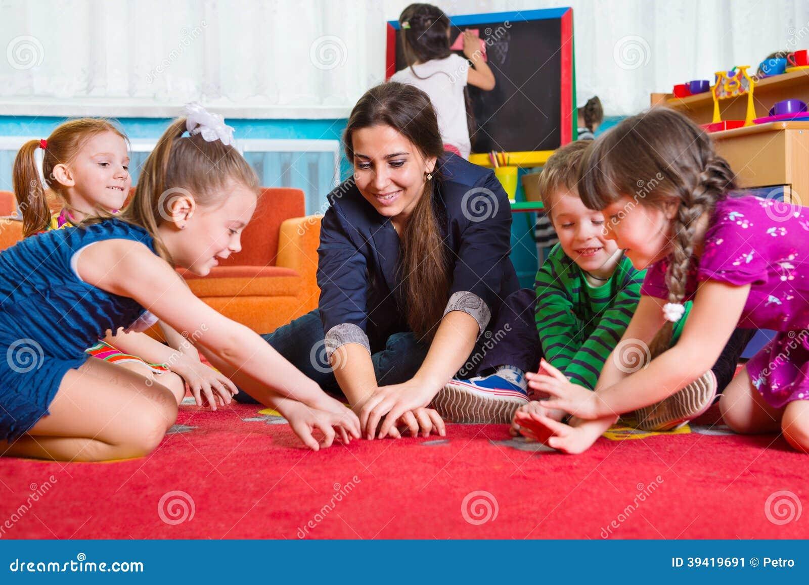 preschool tutor development at kindergarten stock photo image 185