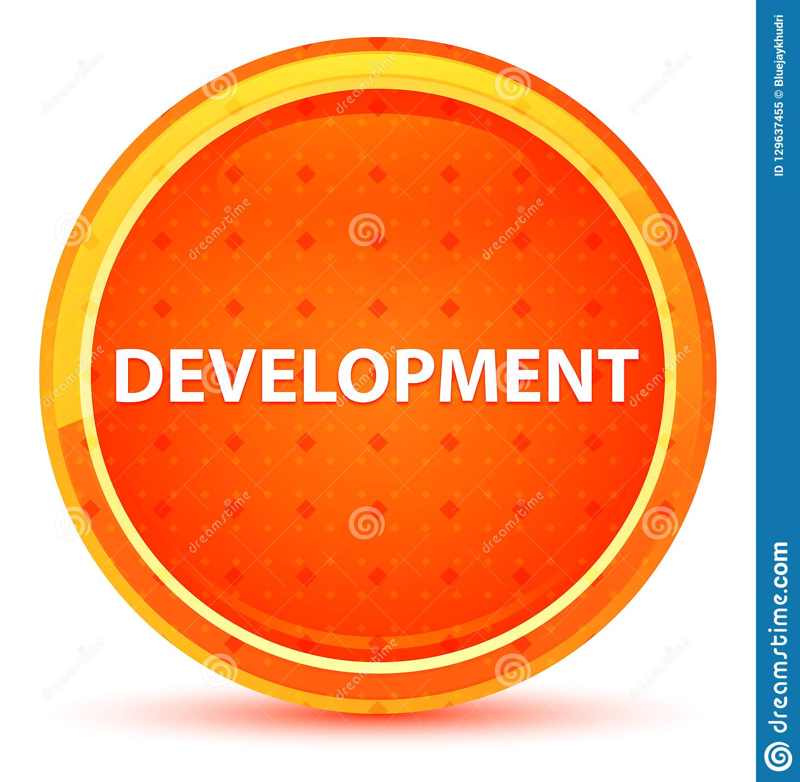 Development Natural Orange Round Button