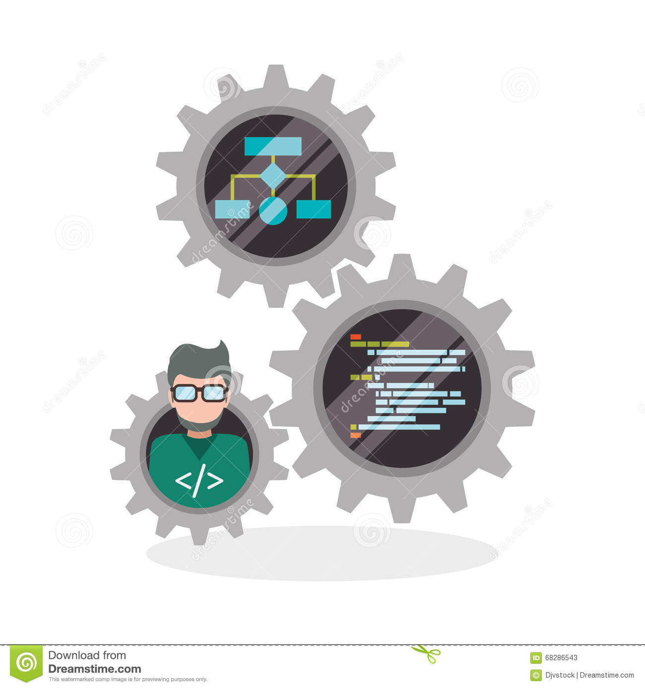 Development And Software Design Stock Vector Image 68286543