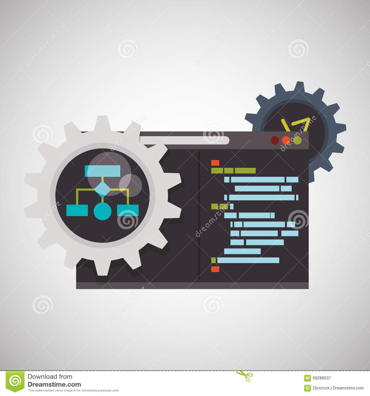 Development and software design stock vector image 68286637 Vector image software