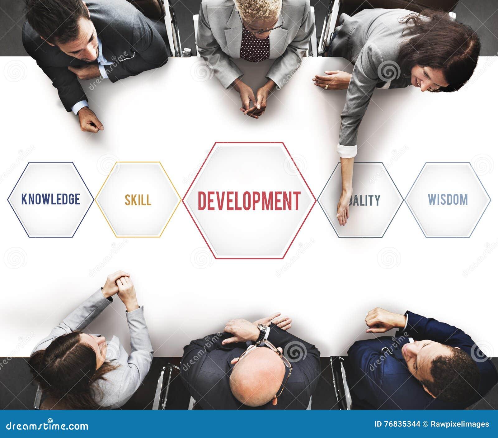 Development Success Training Geometric Forms Graphic