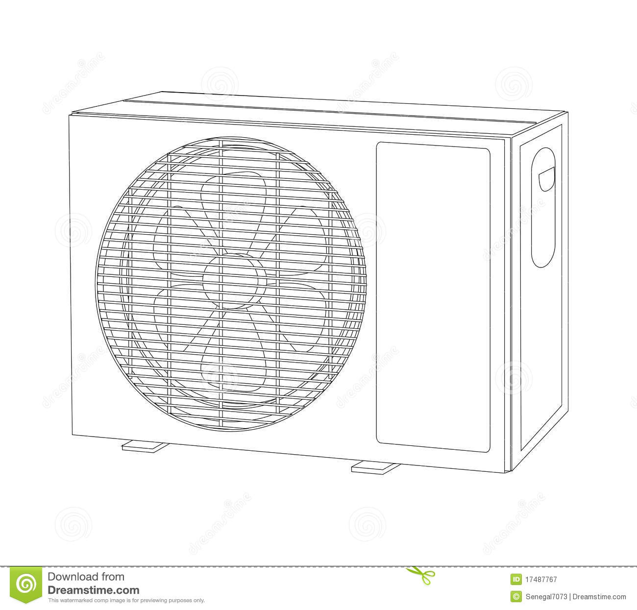 Fan Blade Outline : Device air cond outlet outline stock illustration