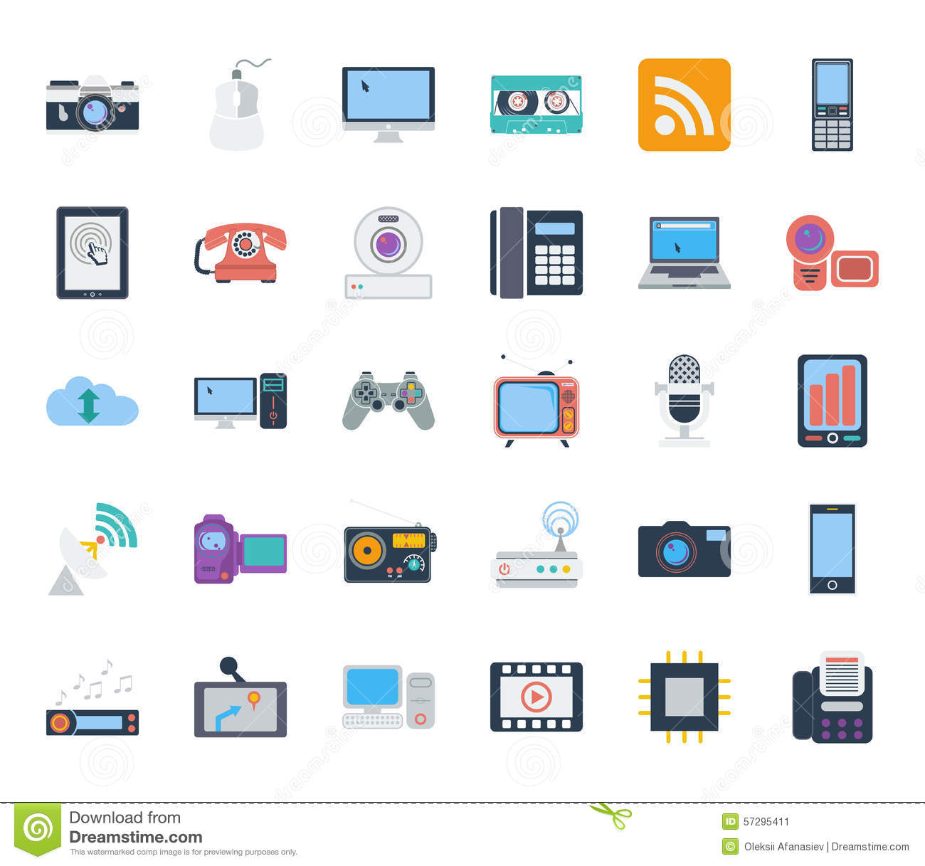 Devices icons set flat vector related icons set for web and mobile