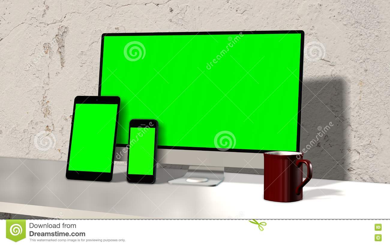 Devices responsive on workspace green screen