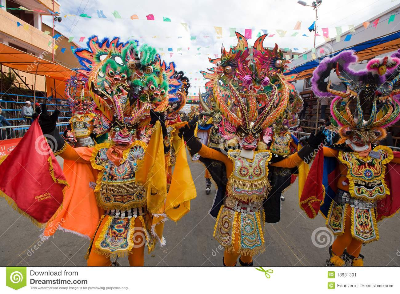 the oruro mask dance essay Mardi gras: carnival celebrated around the world  a reveler wearing a traditional carnival mask takes  young men and women wearing folk costumes dance during.