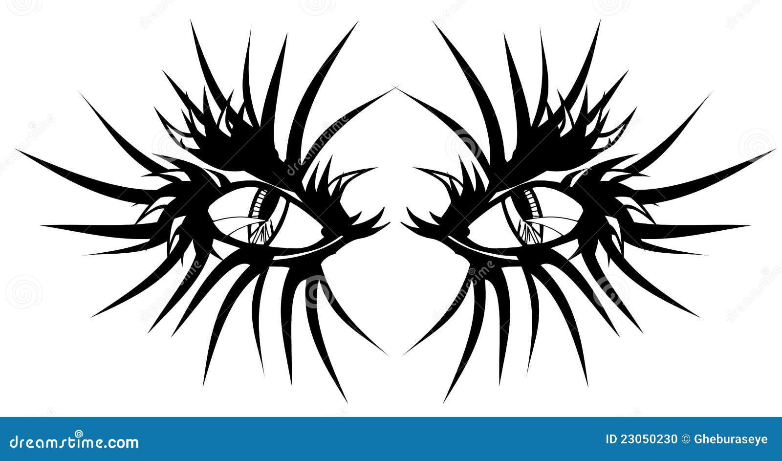 devil eyes tattoo stock photo image 23050230. Black Bedroom Furniture Sets. Home Design Ideas