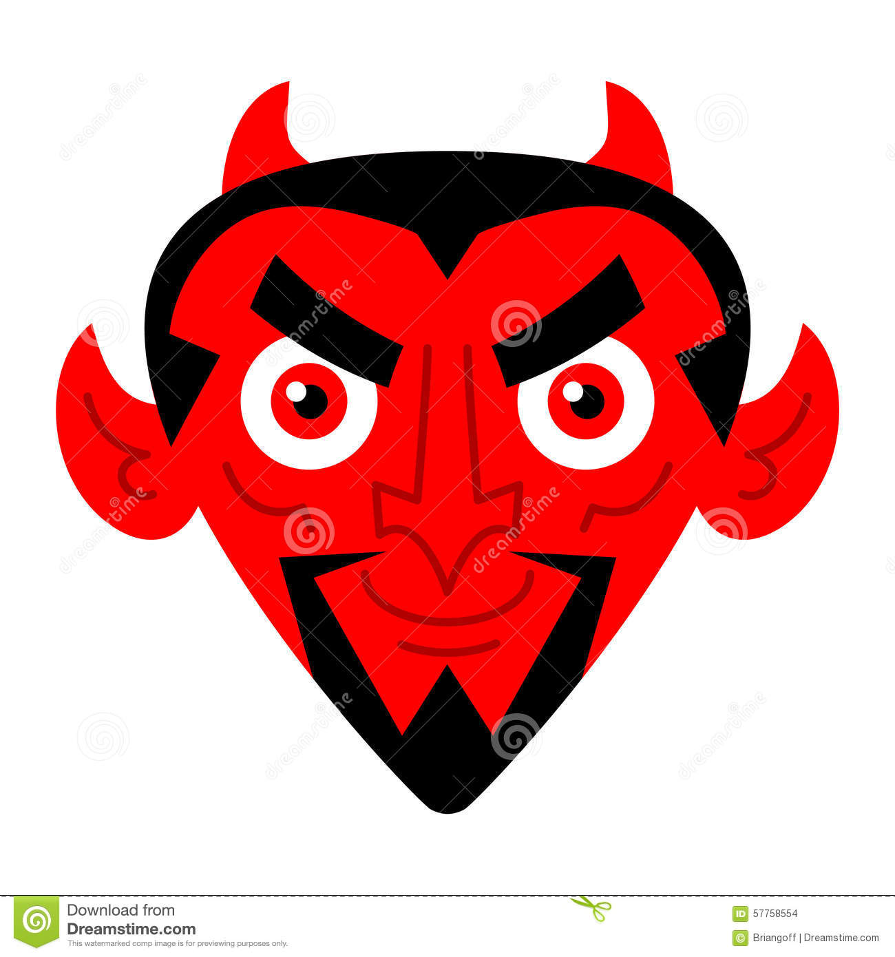 Devil Face Stock Vector. Image Of Hell, Lucifer, Flame
