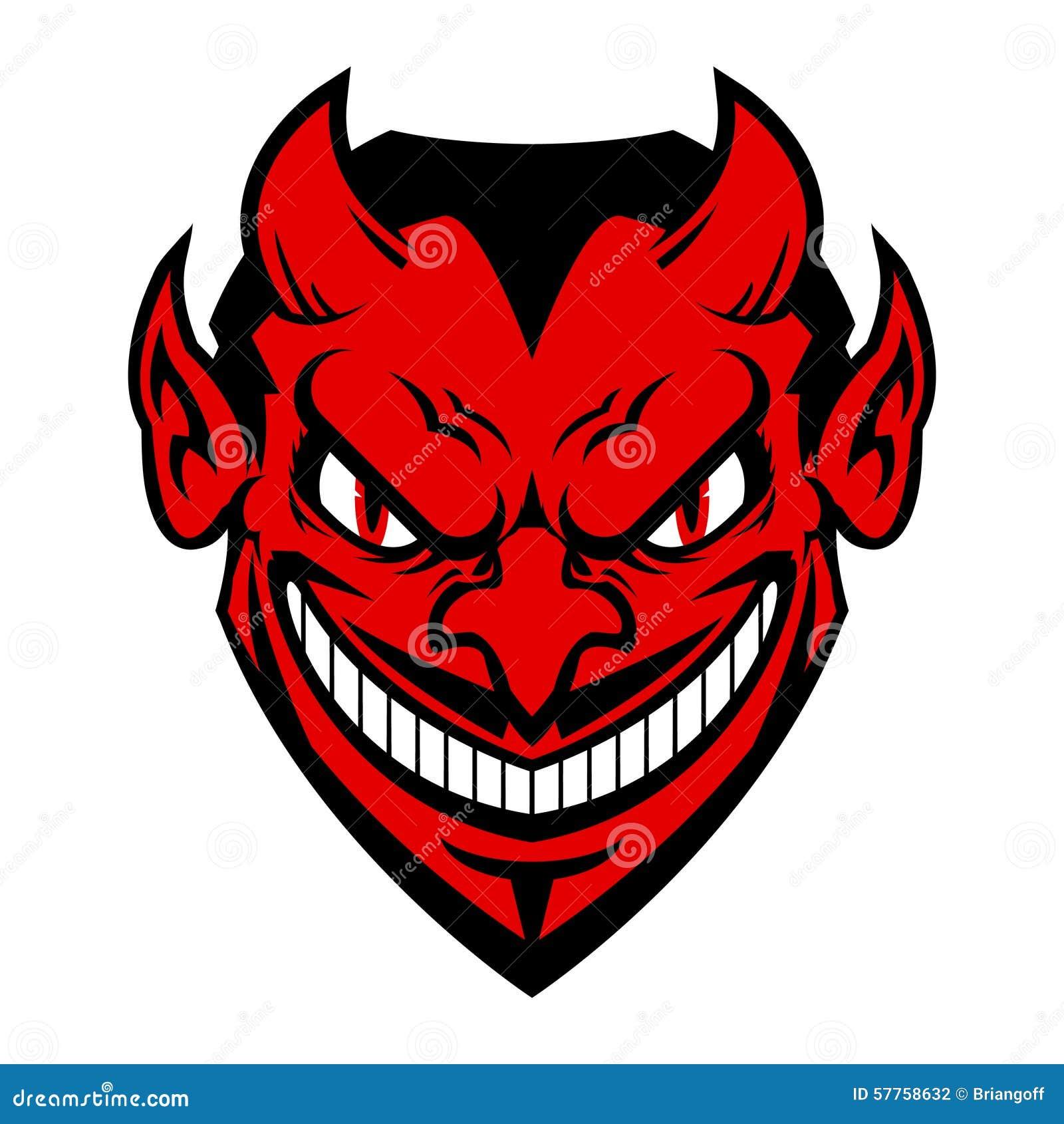 Devil Face Stock Vector. Illustration Of Horned, Lucifer