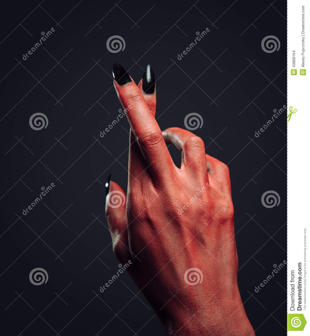 Devil hand with gesture cross fingers stock photo image of party devil hand with gesture cross fingers buycottarizona