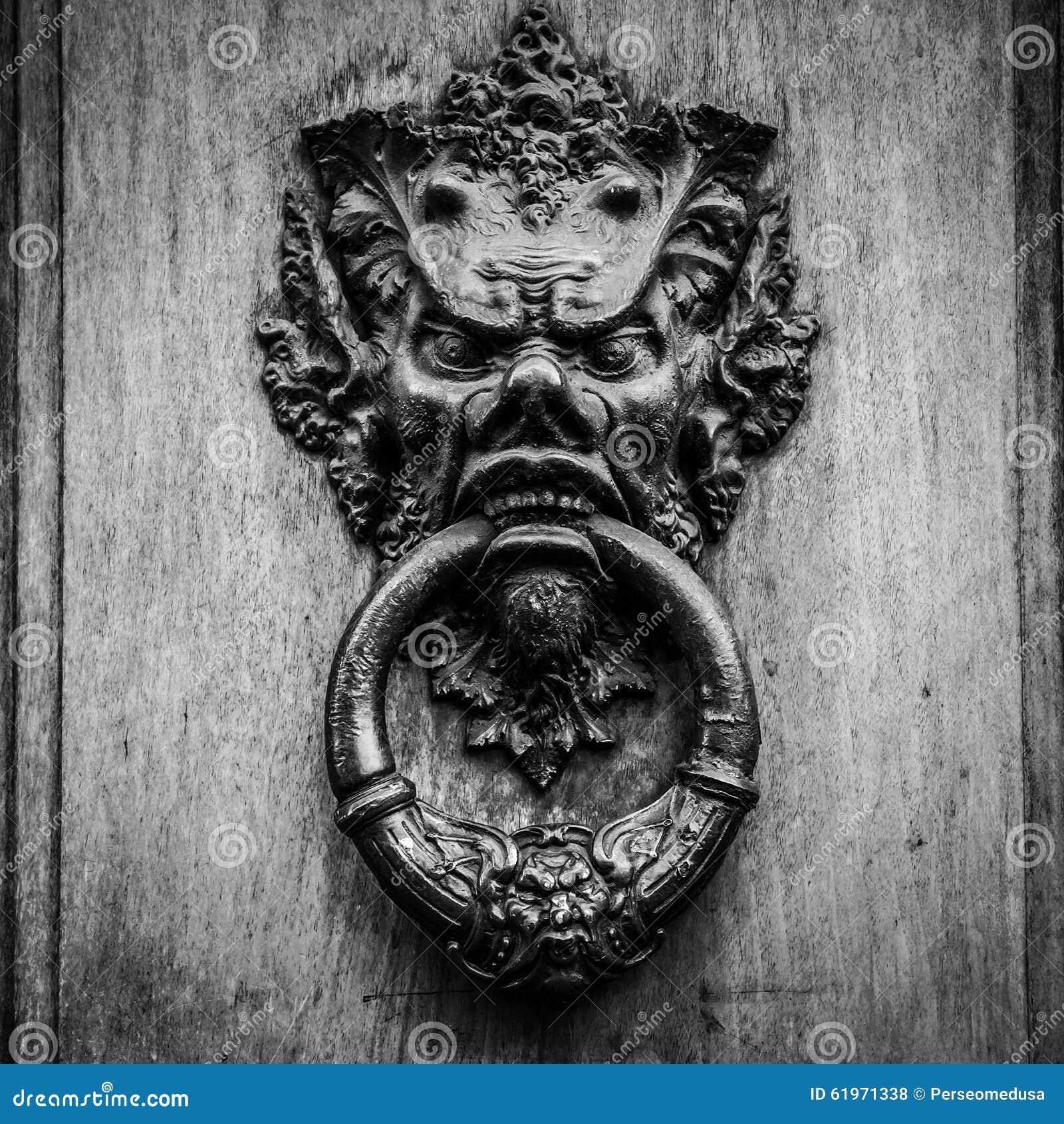 Devil Head Door Knocker Stock Photo Image 61971338